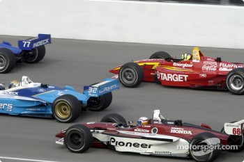 Alex Zanardi, Patrick Carpentier and Memo Gidley