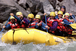 Alex Tagliani and Patrick Carpentier took some time off before this weekend's Molson Indy in Vancouver to go rafting on the Squamish river with some of their crew members
