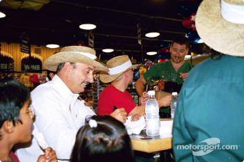 Bobby Rahal and Kenny Brack autograph session