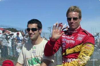 Dario Franchitti and Memo Gidley