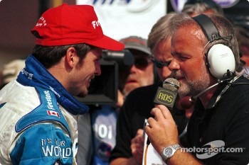 Interview for race winner Patrick Carpentier