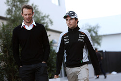 (L to R): Alex Wurz, Williams Driver Mentor / GPDA Chairman with Sergio Perez, Sahara Force India F1