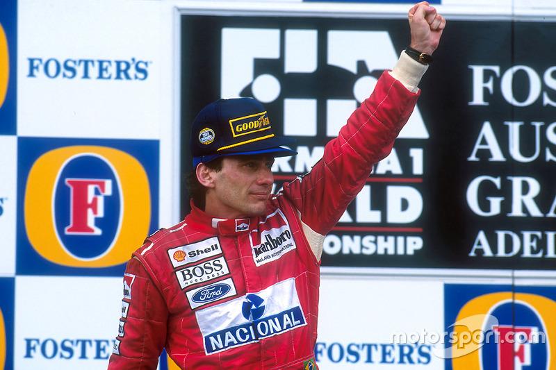 Für Senna ist es der 41. und letzte Sieg. 1994 wird für ihn zum Schicksalsjahr