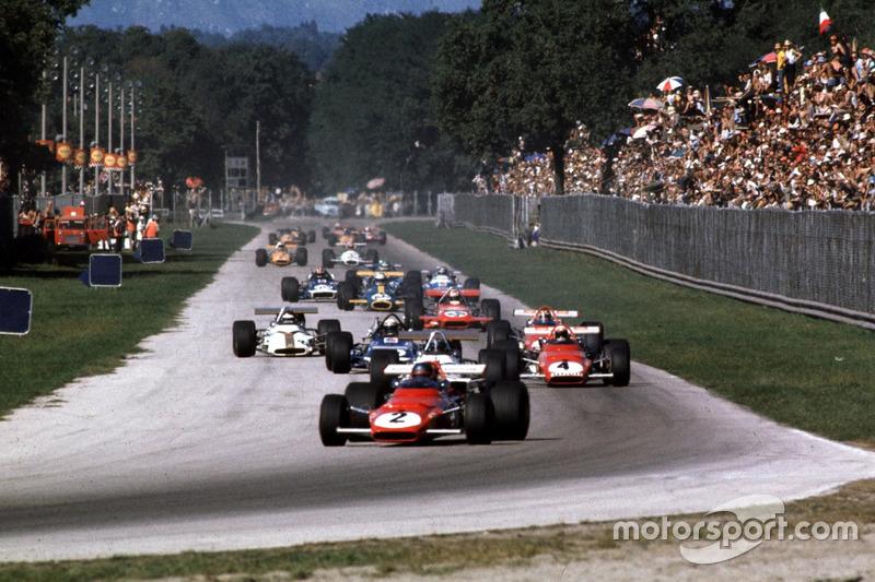 Jacky Ickx, Ferrari 312B, Pedro Rodriguez, BRM, Clay Regazzoni, Ferrari 312B
