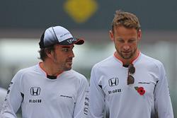 Fernando Alonso, McLaren F1 and Jenson Button, McLaren F1