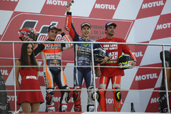 Podium: 1. Jorge Lorenzo, Yamaha Factory Racing; 2. Marc Marquez, Repsol Honda Team; 3. Andrea Iannone, Ducati Team