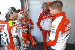 Cal Crutchlow, Team LCR Honda, Andrea Dovizioso, Ducati Team, Gigi Dall'Igna, Ducati Team General Manager, Casey Stoner, Ducati Team