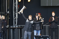 World Champion Nico Rosberg celebrates