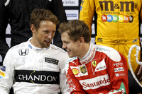 Jenson Button and Sebastian Vettel
