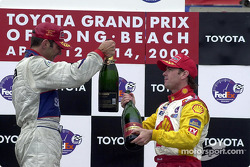 The podium: Max Papis and Jimmy Vasser