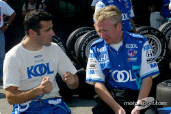 Dario Franchitti and race engineer Allen McDonald