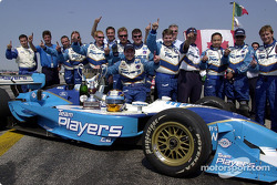Patrick Carpentier and Team Player's celebrating victory