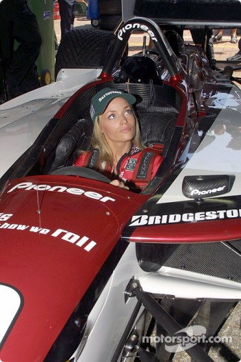 In Tony Kanaan's car