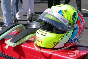Christian Fittipaldi's helmet