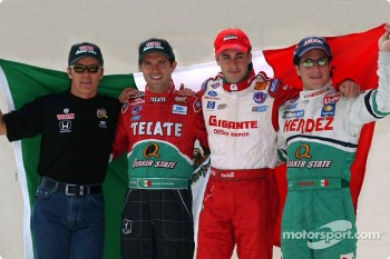 The four Mexican drivers: Adrian Fernandez, Luis Diaz, Michel Jourdain Jr. and Mario Dominguez