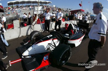 Newman/Haas Racing pit area