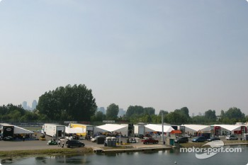 A view of paddock area at Circuit Gilles-Villeneuve