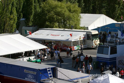 Teams hospitality area at Circuit Gilles-Villeneuve