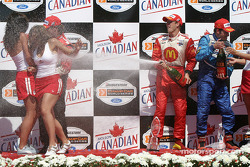 Podium: champagne for Sébastien Bourdais, Jimmy Vasser and Patrick Carpentier