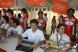 Autograph session: Michel Jourdain Jr. and Rodolfo Lavin