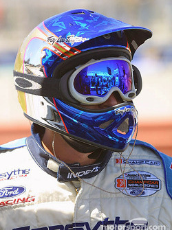 Forsythe Championship Racing crew member waits for next stop