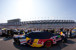 Car of Kasey Kahne, Red Bull Racing Team Toyota on the starting grid