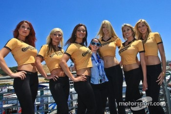 Continental Tire girls with Mazda at Mazda Raceway Laguna Seca staff