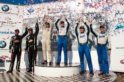 #68 TRG Porsche 911 GT3 Cup: Dion von Moltke, Mike Pierce, #66 TRG Porsche 911 GT3 Cup: Duncan Ende, Spencer Pumpelly, #23 Alex Job Racing Porsche 911 GT3 Cup: Bill Sweedler, Butch Leitzinger
