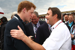 Prince Harry with Nigel Mansell