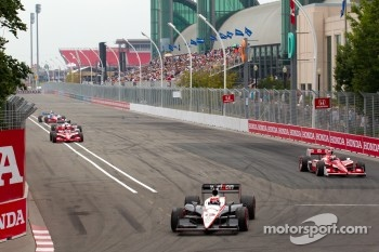 Will Power, Team Penske leads the field on pace laps