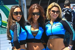 Mazda girls at the Continental Tire Sports Car Festival at Mazda Raceway Laguna Seca