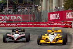 Helio Castroneves, Team Penske and Justin Wilson, Dreyer & Reinbold Racing