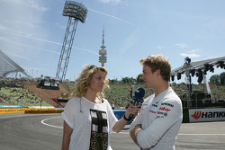 Christina Surer with Nico Rosberg Mercedes Grand Prix