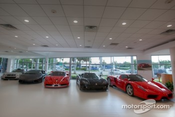 Ferrari of Fort Lauderdale, supercars in the showroom