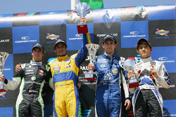 Race winner Felipe Nasr, second place Antonio Felix da Costa, third place Carlos Huertas, rookie Kotaro Sakurai