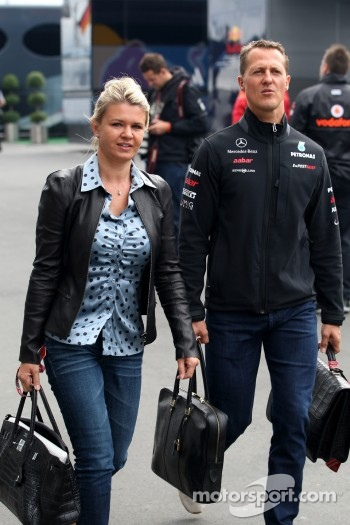 Corina Schumacher, Corinna, Wife of Michael Schumacher, Michael Schumacher, Mercedes GP F1 Team