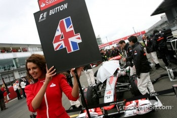 Grid girl, Jenson Button, McLaren Mercedes