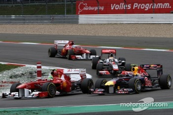 Felipe Massa, Scuderia Ferrari and Mark Webber, Red Bull Racing