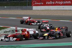 Felipe Massa, Scuderia Ferrari and Mark Webber, Red Bull Racing