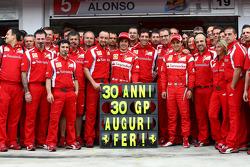 Fernando Alonso, Scuderia Ferrari celebrates his 30th Birthday