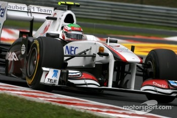 First top ten position for rookie Sergio Perez