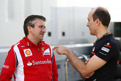Pat Fry Ferrari technical director with Phil Prew McLaren Race Engineer