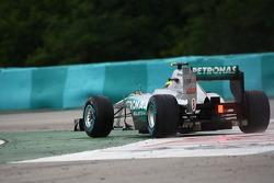 Nico Rosberg, Mercedes GP F1 Team goes wide