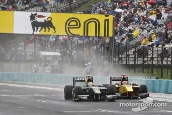 Esteban Gutierrez leads Romain Grosjean