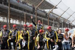 Victory lane: race winner Paul Menard, Richard Childress Racing Chevrolet celebrates with his team