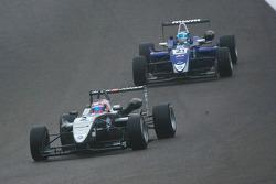 Kevin Magnussen leads Rupert Svendsen-Cook