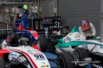F3 Cars in parc ferme william buller wins race 1