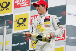 Podium: race winner Daniel Juncadella, Prema Powerteam Dallara F309 Mercedes