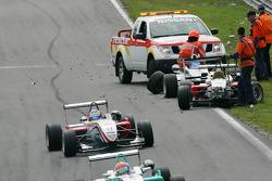 Roberto Merhi, Prema Powerteam, Dallara F308 Mercedes, Pipo Derani, Prema Powerteam, Dallara Mercedes, Carlos Munoz, Signature, Dallara F308 Volkswagen