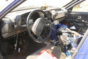 Interior shot of soviet era dash design